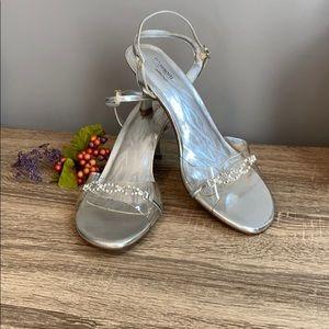 Size 10 Dress heels with rhinestones